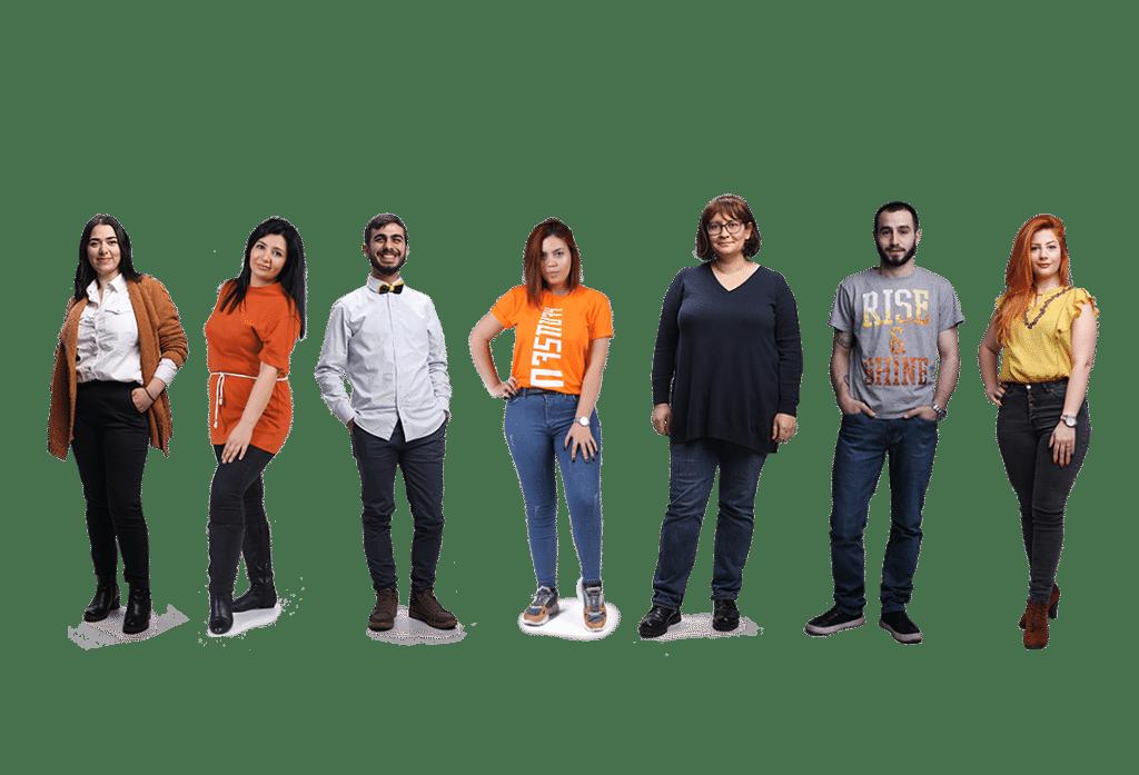 meet the <br> marketing team